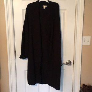 H&M Cotton Blend Oversized Knit Cardigan